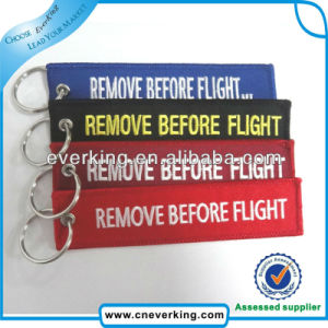 Key Ring with Fabric Material Embroidery Keychain Wholesale pictures & photos