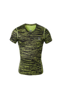 Compression T-Shirt Mens Short Sleeves Tights Running Shirt Clothing (AKJSY-2015014) pictures & photos