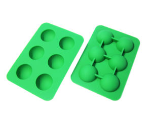 Food Grade 6 Cavity Silicone Ball Shape Ice Cube Tray pictures & photos