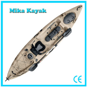 Single Seat Pedal Powered Kayak Fishing Boats Plastic Canoe pictures & photos