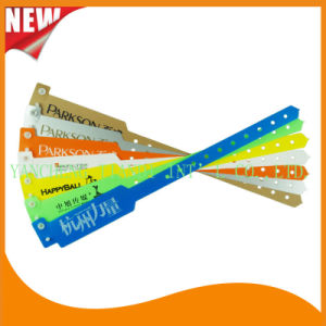 Professional Entertainment Hot Selling Custom Made Disposable Plastic Wristbands (E8020-2) pictures & photos