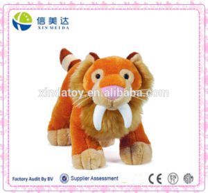 Valid Sabertoothed Tiger Plush Jungle Animals Toy pictures & photos