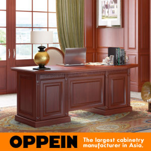 Oppein Duke Classic Cherrywood PVC Wood Study Computer Desk (ST21539) pictures & photos