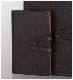 Leather Material Notebook, Black Loose-Leaf Notebook, Notepad with Cheap Price