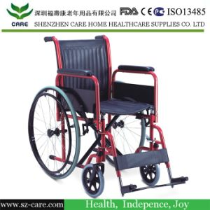 Top Sell Economy Steel Manual Standard Wheelchair pictures & photos
