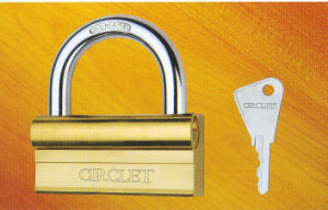 P Shape Iron Padlock with Titanium Plated Finishing pictures & photos