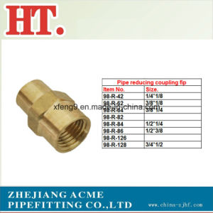 NPT Thread Brass Pipe Reducing Coupling Fittings pictures & photos