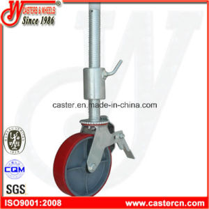 8 Inch PU Scaffold Caster with 500mm Threaded Stem pictures & photos
