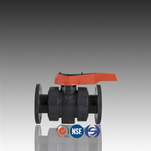DIN ASTM Standard PVC Ball Valve with Flange pictures & photos
