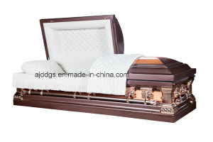 18ga Steel Silver Rose Casket pictures & photos