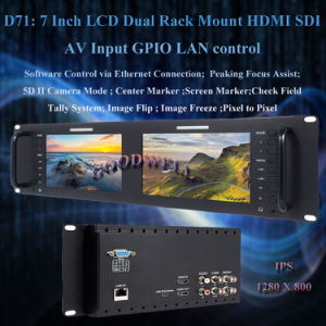 Sdi Input Dual 7 Inch LCD Display pictures & photos