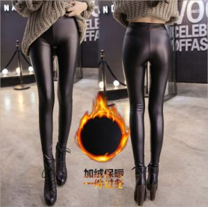 PU Faux Leather Leggings with High Elasticity for Women P1264 pictures & photos
