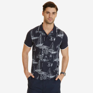 Slim Fit Printed Polo Shirt pictures & photos