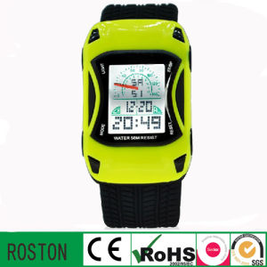 Children′s Cartoon Fashion Car Shape Kids Digital Watch pictures & photos