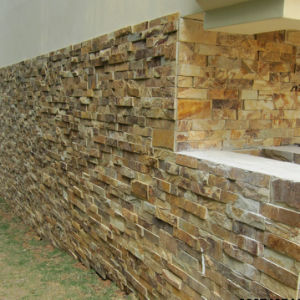 Modern House Decorative Rusty Yellow Slate Wall Stone pictures & photos