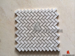 White / Grey / Athens Wood Marble Mosaics for Interior Wall pictures & photos