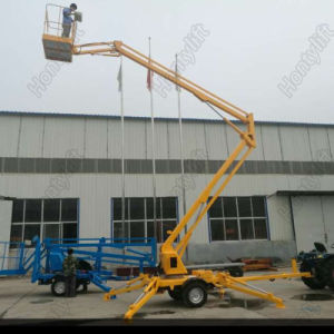 Hydraulic Trailer Aerial Working Folding Boom Lift Working Table pictures & photos