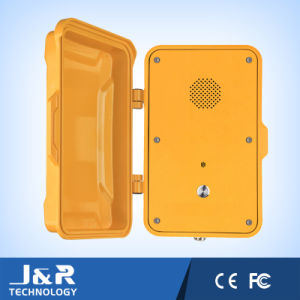 Weahterproof Emergency Phone Public Phone Assistance Phone 911 Phone Call Box Police Telephone Tunnel Telephone with Door Cover pictures & photos