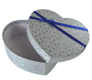 Silver Textured Paper Decoration Box