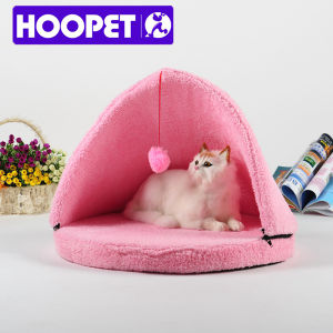 Triangle Dog Beds Pink Canopy Cat House Tent Bed