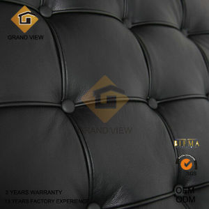 Black Leather/PU Barcelona Chair Design Furniture (GV-BC01) pictures & photos