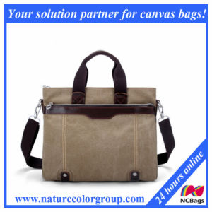 Men′s Canvas Work Handbag Briefcase for Laptop pictures & photos