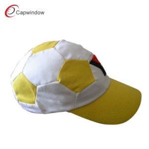 Yellow White Fashion Soccer Cap Baseball Cap with Polyester (CW-0467) pictures & photos