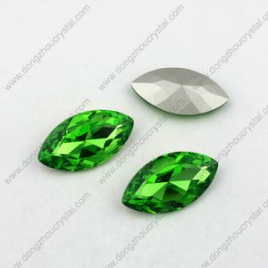 Navette Glass Stones for Jewelry Vitrail Glass Crystal Fancy Stone Wholesale Price pictures & photos