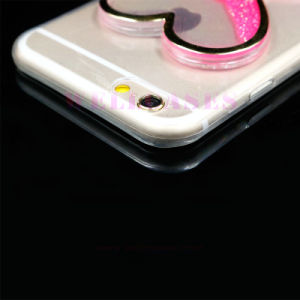 Fluorescent Glitter Powder Sandglass/Hourglass Clock Quicksand Phone Cover/Case pictures & photos