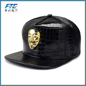 Custom 3D Baseball Cap Embroidery Snapback Cap Leather Snapback pictures & photos