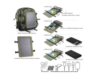 Solar Bag Type and 30-50L Capacity Solar Power Backpack pictures & photos