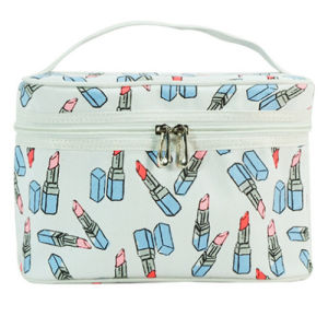 Canvas Cosmetic Bag with Lipstic Printting pictures & photos