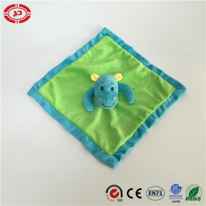 Green Soft Velboa with Blue Hippo Adorable Baby Blanket pictures & photos