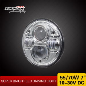 "New Design 7"" Round 12V/24V Motorcycle LED Headlight pictures & photos"