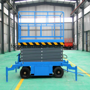 Four Wheel Truck-Pulled Mobile Scissor Lift pictures & photos