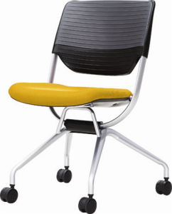 Modern Elegant Stack PP Office Chair with Casters pictures & photos