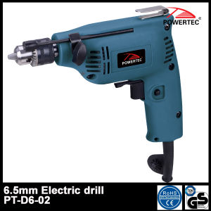 POWERTEC 6.5mm Electric Hand Drill Machine (PT-D6-02) pictures & photos