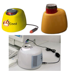 One Can/Bottle Electronic Mini Fridge DC12V or USB5V with Cooling for Office, Car Use pictures & photos