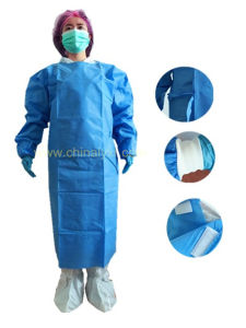 Disposable Sterile Standard SMS Surgical Gown pictures & photos