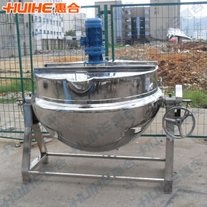 Tilting Steam Jacketed Cooking Kettle for Food pictures & photos