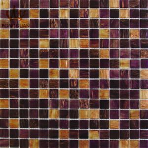 Mix Color Glass Mosaic Tile Brown and Purple Color (MC205) pictures & photos