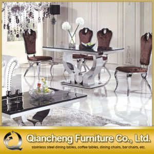 Modern Furniture Dining Table with Marble Top pictures & photos