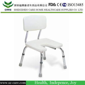 U-Shape Commode Chair/Aluminum Frame Lightweight/Bath Bench for Disabled pictures & photos
