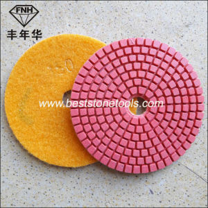 Wd-2 Wet Polishing Pads Standard Bright Red Diamond Flexible Polishing Pad pictures & photos