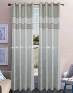 Jacquard Grommet Panel Window Curtain (HR14WT113) pictures & photos