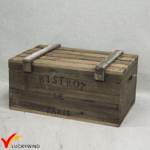 Slat Design Craft Wooden Vintage Handmade Suitcase Trunk pictures & photos