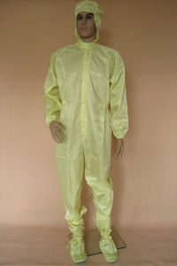 Dustfree Cleanroom Washable ESD Work Coverall pictures & photos