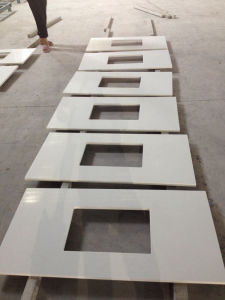 Pure White Artificial Quartz Countertops for Kitchen, Bathroom, Island pictures & photos
