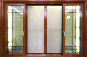 Aluminium Casement Door with Double Toughened Glass