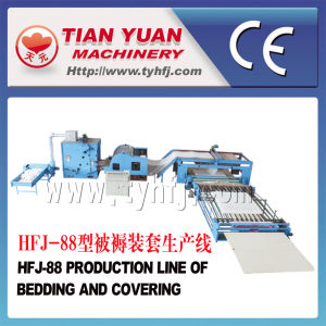 Nonwoven Polyester Fiber Sheep Wool Quilts Production Line pictures & photos